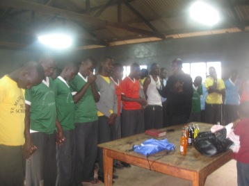 altar call in boys' boarding school